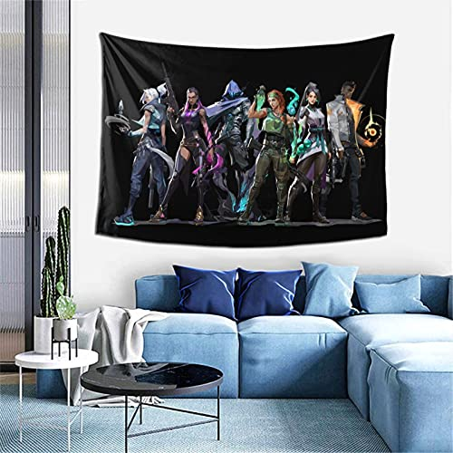Valorant Tapestry Wall Art 3D Poster Theme Party Decor for Living Room,Bedroom,Home,Dorm Room 60X40 inch