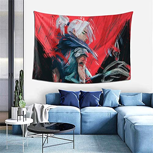 Jett Valorant Tapestry Wall Art 3D Poster Theme Party Decor for Living Room,Bedroom,Home,Dorm Room 60X40 inch
