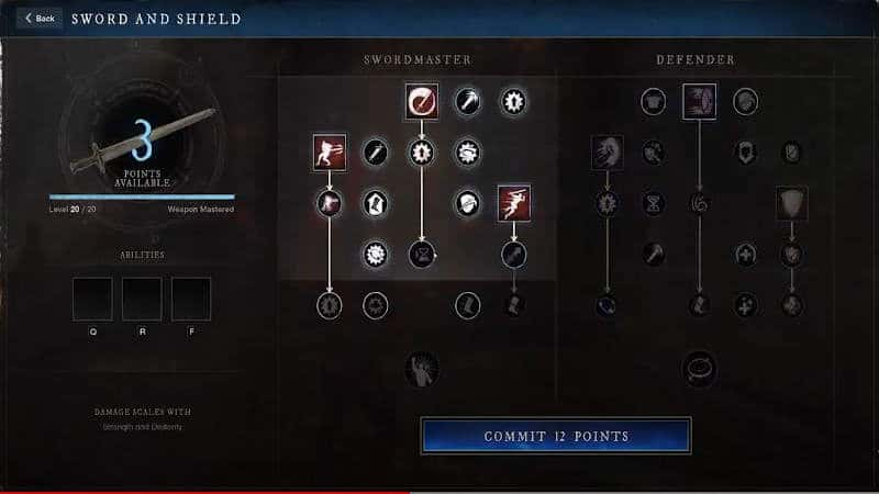 New Wold Weapon Mastery Tree