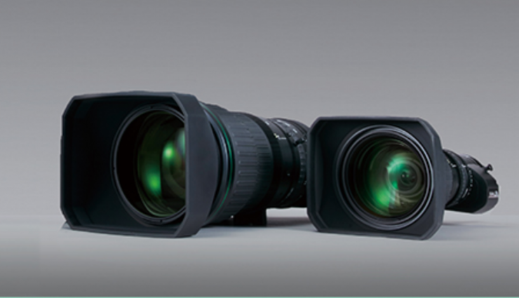 FUJINON broadcast zoom lens featuring the S10 digital drive unit