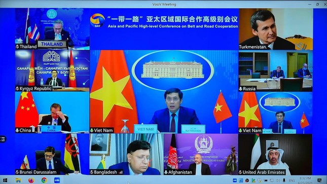Foreign Minister Bui Thanh Son attends conference on Belt and Road cooperation Photo 1