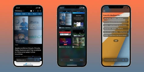 Instructions on how to use the new Safari web browser on iOS 15