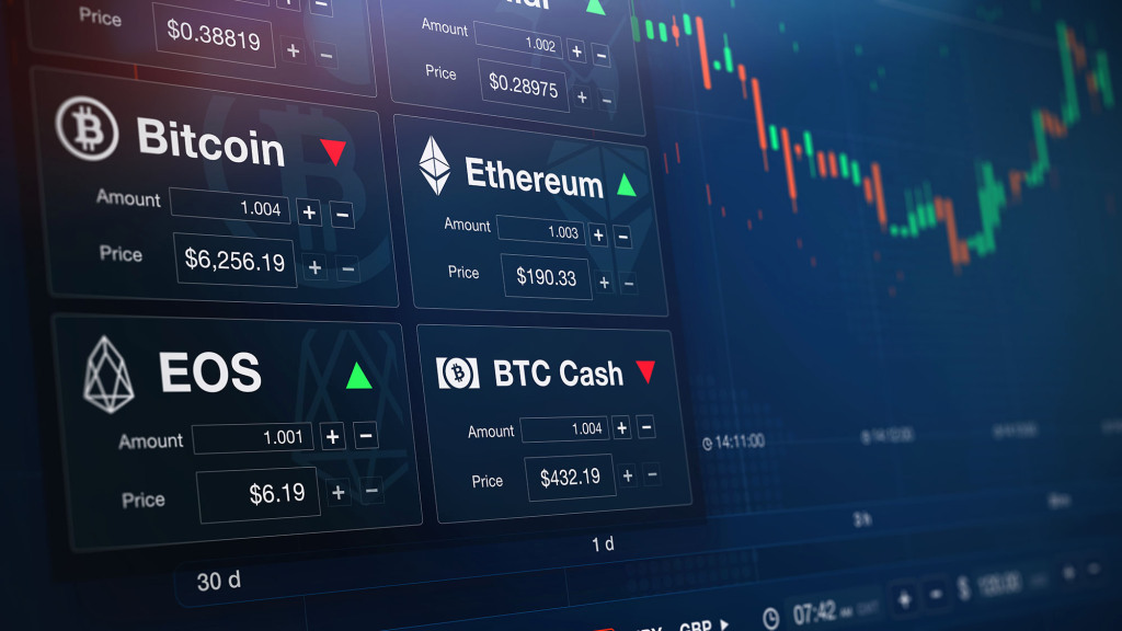 cryptocurrency exchange screen
