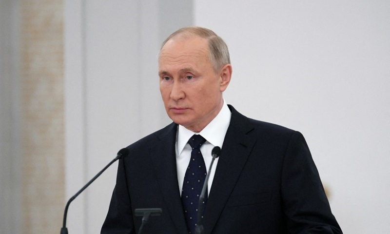 Russian President Vladimir Putin speaks at the lower house of parliament on June 21.  Photo: AFP.