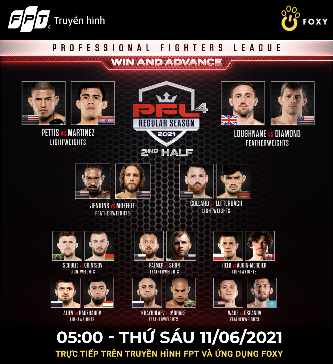 The MMA Professional Fighters League continues with top-notch fights