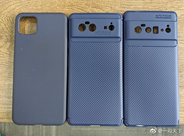 From left to right: iPhone 12, Google Pixel 6 and Pixel 6 Pro - Credit: Weibo