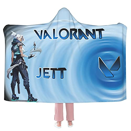 """Jett 5 Hooded Blanket Cloak Cape Shawl Soft and Comfortable Wrap Blanket for Living Room Camping Travel 50""""X40"""""""