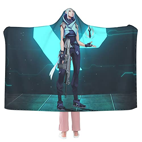 """Jett 6 Hooded Blanket Cloak Cape Shawl Soft and Comfortable Wrap Blanket for Living Room Camping Travel 50""""X40"""""""