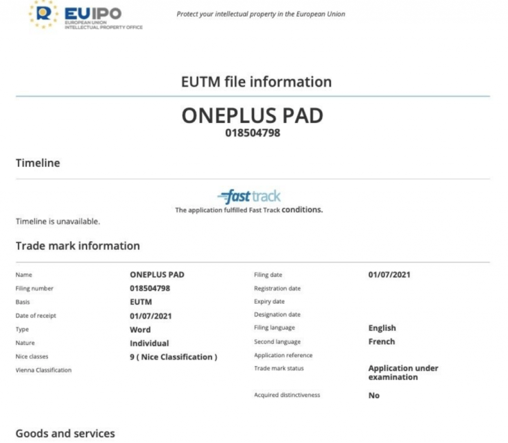 OnePlus Teases Android Tablet With 'OnePlus Pad' Trademark