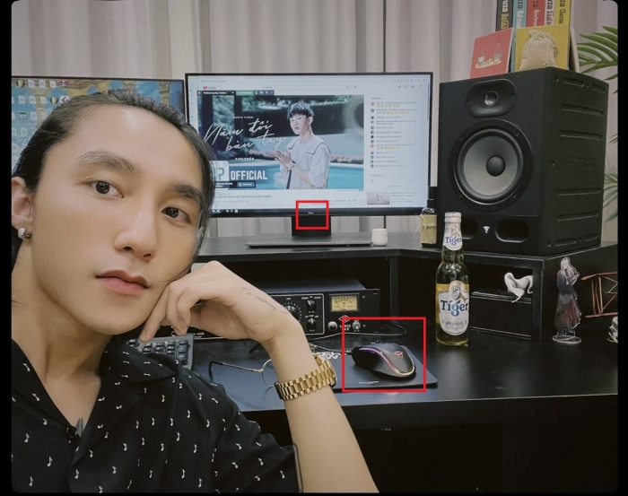 Son Tung M-TP uses a Dell monitor of 3 million, a gaming mouse of 100,000 waiting for the premiere of Kay Tran's MV
