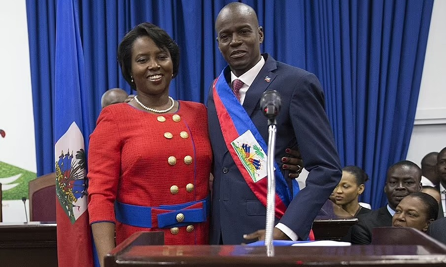 First Lady Martine Moise and President Jovenel Moise in Haiti in 2017. Photo: Shutterstock.
