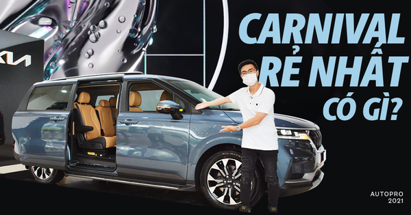 Discover the standard version of Kia Carnival for nearly 1.2 billion VND at the dealer: Give up many high-end amenities but be modern enough to be a luxury service car